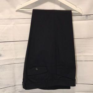 Navy, black linen pants